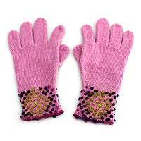 Gloves, 'Strawberry Sprinkles' - Peruvian Blend Patterned Gloves