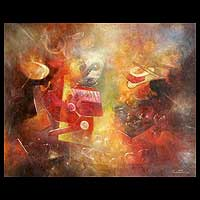 'Fantasies' (2008) - Abstract Peru Fine Art Oil Painting