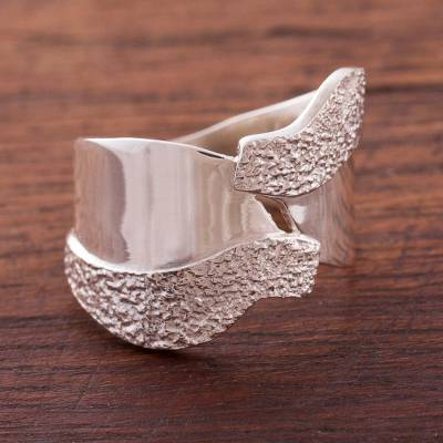 Sterling silver wrap ring, 'Love of Nature' - Collectible Modern Sterling Silver Wrap Ring