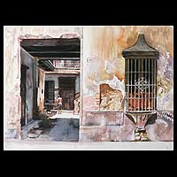 'Old Lima' (2008) - Realist Architectural Painting