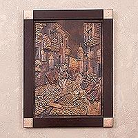 Copper panel,