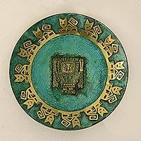 Copper plate, 'Inca Lord Creator' (large) - Copper plate (Large)