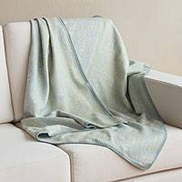 Alpaca blend throw blanket, 'Paracas Fantasy' - Handmade Peruvian Alpaca Wool Blend Throw Blanket