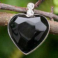 Obsidian heart pendant,