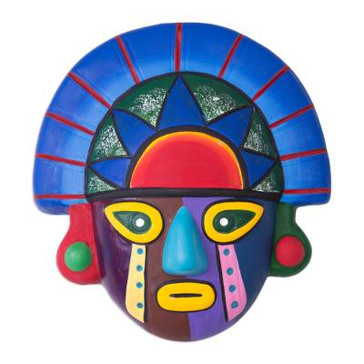 Hand Crafted Colorful Ceramic Tumi Mask