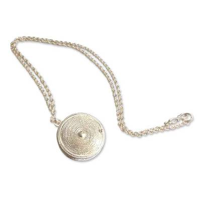 Artisan Crafted Peruvian Sterling Silver Locket Necklace