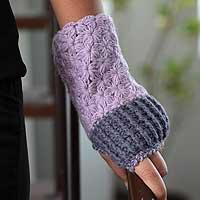 Alpaca fingerless gloves,