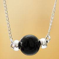 Obsidian choker, 'Planet of Shadows' - Obsidian choker