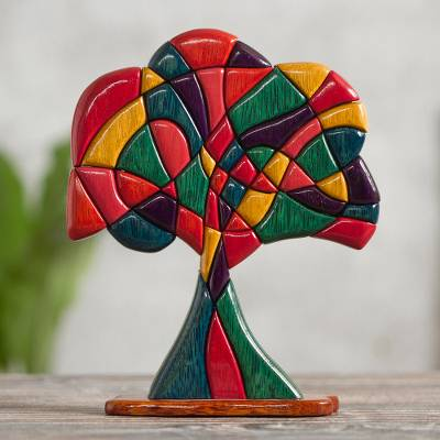 Cedar and mahogany sculpture, Tree of Life