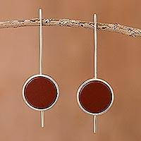 Jasper drop earrings, 'U Turn' - Jasper drop earrings