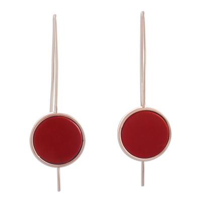 Jasper drop earrings
