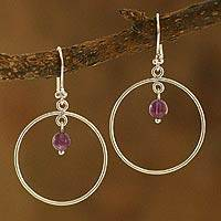 Amethyst dangle earrings, 'Darling' - Amethyst dangle earrings