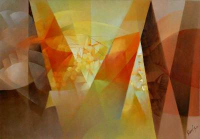 'Geometric Vision' - Cubist Oil Painting