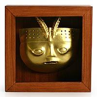 Papier mache shadow box mask,
