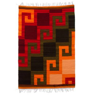 Collectible Hand Loomed Wool Area Rug (2x2.5)