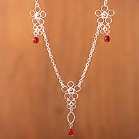 Carnelian Y necklace,