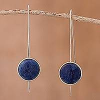 Sodalite drop earrings, 'U Turn' - Sodalite drop earrings