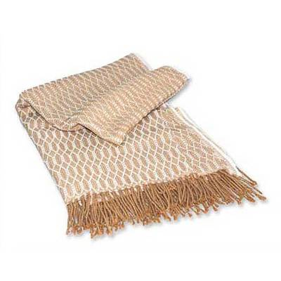 Throw, 'Andean Warmth' - Peruvian Patterned Throw Blanket