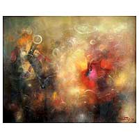 'Emotions' (2009) - Abstract Painting from Peru