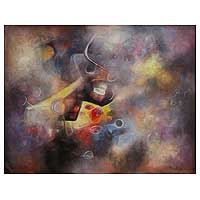 'Presence of a Dream' (2009) - Abstract Oil Painting from Peru