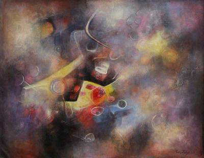 Abstract Oil Painting from Peru