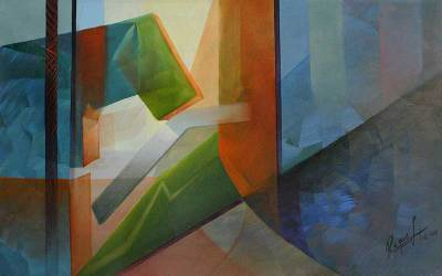 'Geometric Composition II' - Abstract Painting