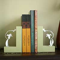 Aluminum bookends,
