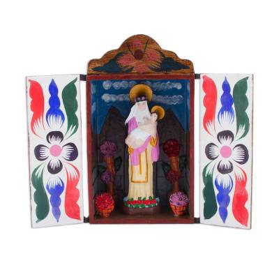 Religious Folk Art Retablo Sculpture