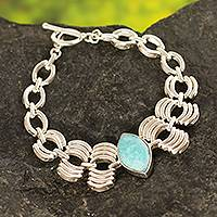Amazonite pendant bracelet,