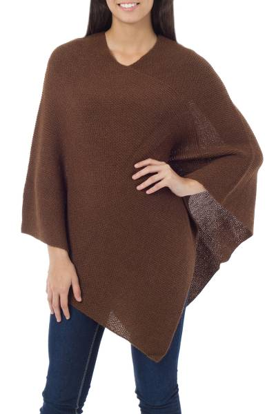 Artisan Crafted Alpaca Wool Poncho