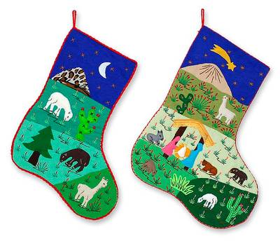 Christianity Cotton Tree Stockings (Pair)