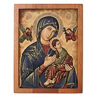 Cedar relief panel Our Lady of Perpetual Help Peru