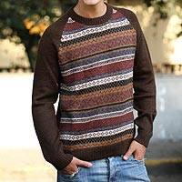 Alpaca mens sweater Horizon (Peru)