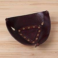 Leather tray, 'Essential Trinity' (medium) - Leather tray (Medium)