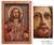 Cedar relief panel, 'Jesus Sacred Heart' - Hand Made Christianity Wood Relief Panel thumbail