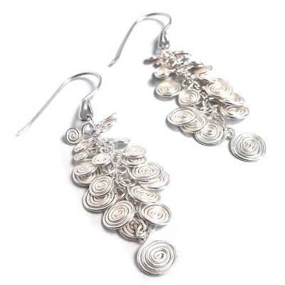 Hand Crafted Fine Silver Earrings from Peru
