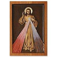 Cedar relief panel Our Lord of Mercy Peru