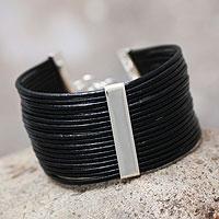 Leather cuff bracelet,