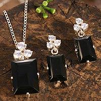 Obsidian jewelry set,