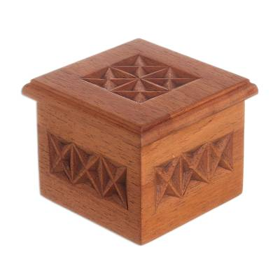 Peru Hand Carved Cedar Decorative Box
