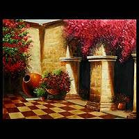 'Colonial Patio' - Impressionist Architectural Painting