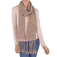 100% alpaca scarf, 'Winter Mystique' - 100% alpaca scarf