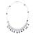 Pearl choker, 'Pearl Garden' - Collectible Floral Fine Silver Choker Pearl Necklace (image 2d) thumbail