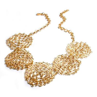 Gold vermeil collarette necklace