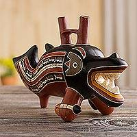 Featured review for Ceramic sculpture, Moche Dolphin