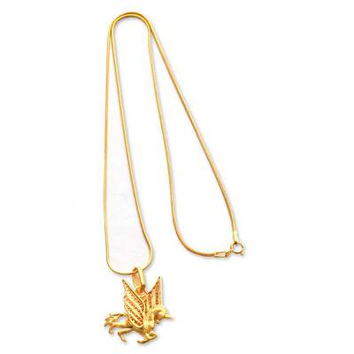 Handcrafted Gold Plated Filigree Necklace