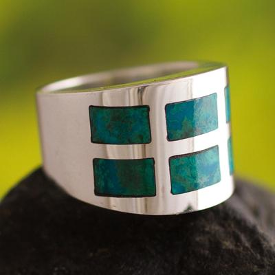 Chrysocolla band ring