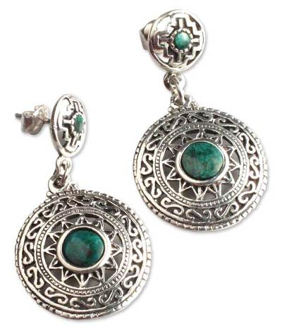 Chrysocolla dangle earrings