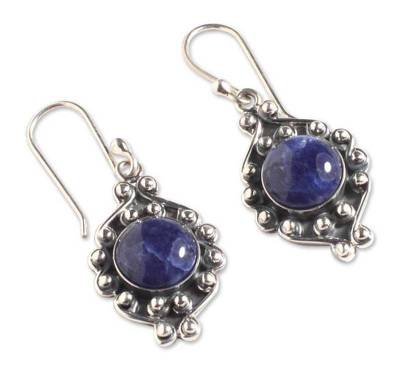 Sodalite flower earrings