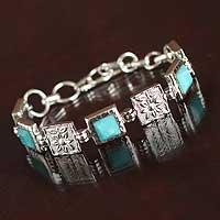 Amazonite flower bracelet,